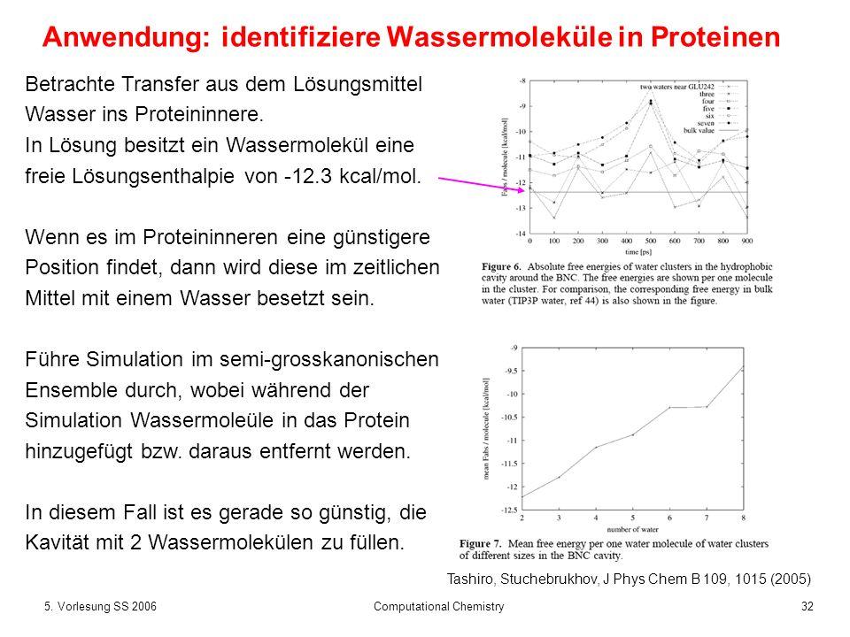 Anwendung: identifiziere Wassermoleküle in Proteinen