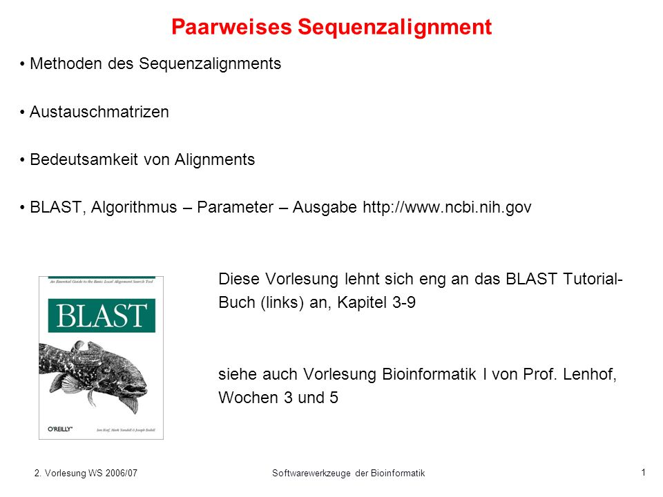Paarweises Sequenzalignment