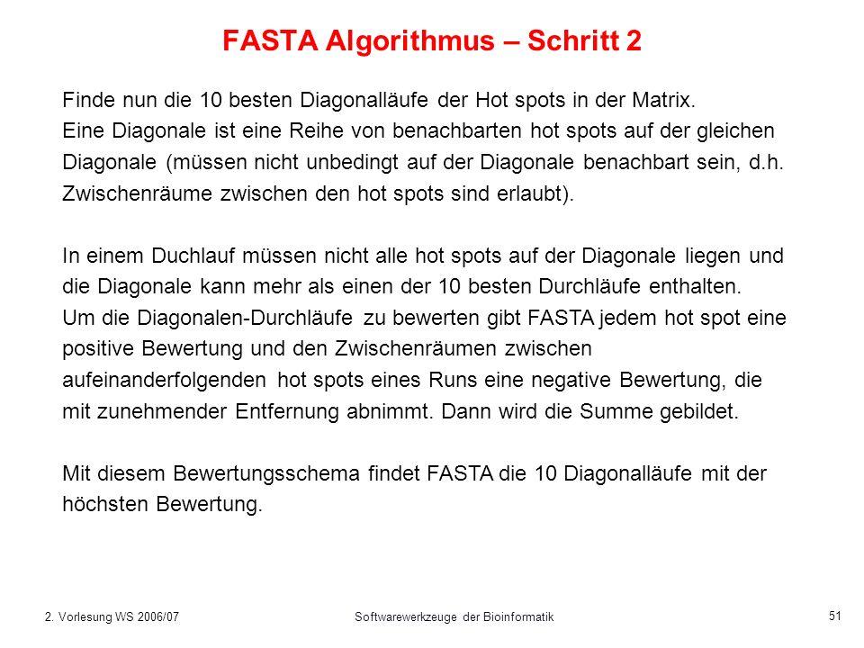 FASTA Algorithmus – Schritt 2
