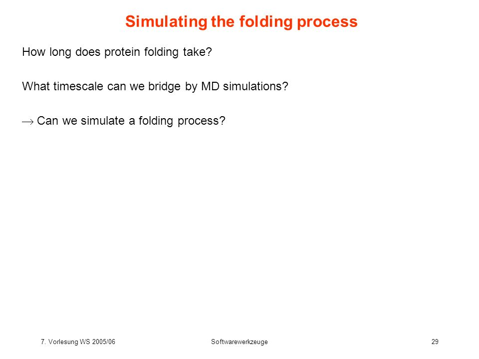 Simulating the folding process