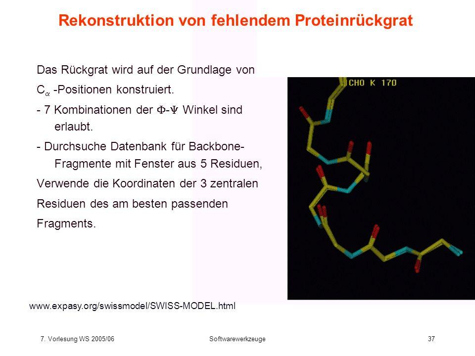 Rekonstruktion von fehlendem Proteinrückgrat