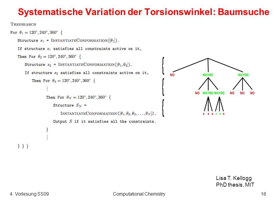 Systematische Variation der Torsionswinkel: Baumsuche