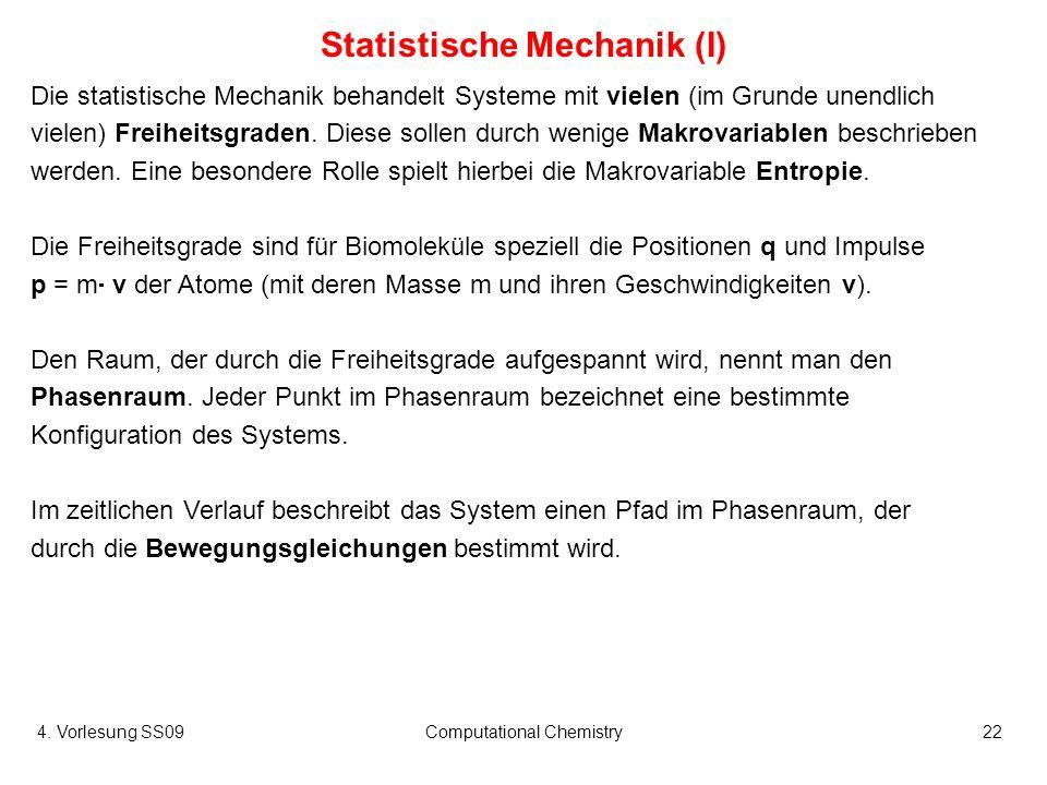Statistische Mechanik (I)