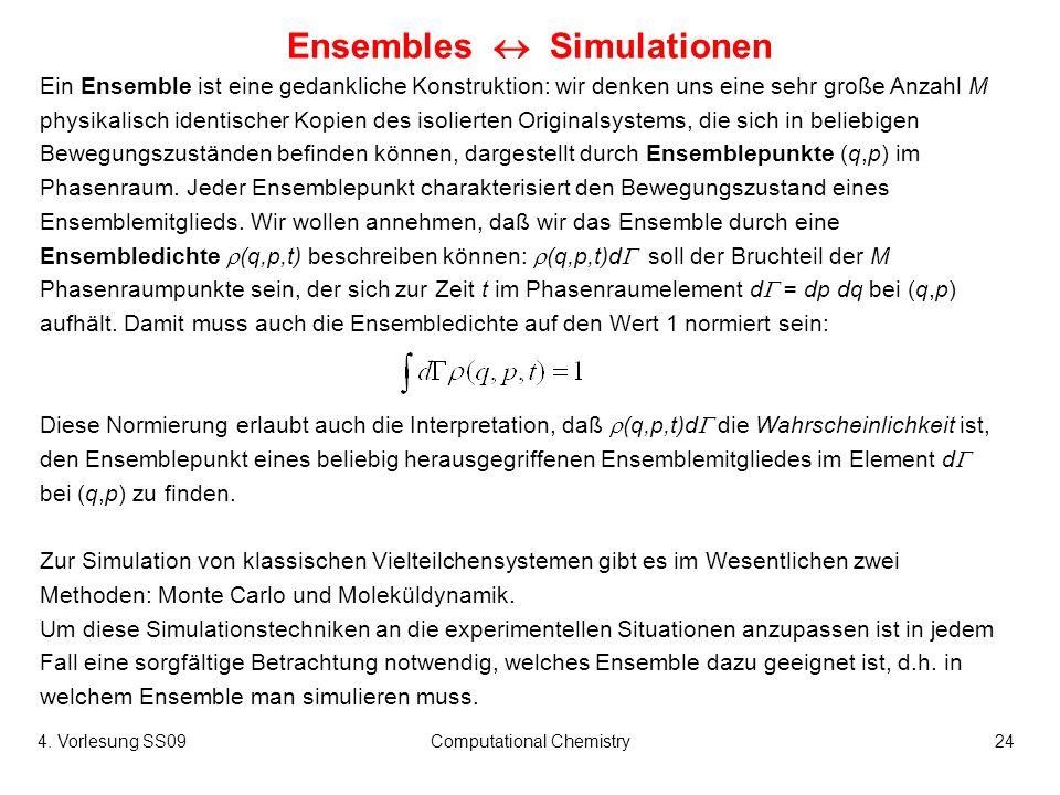 Ensembles  Simulationen