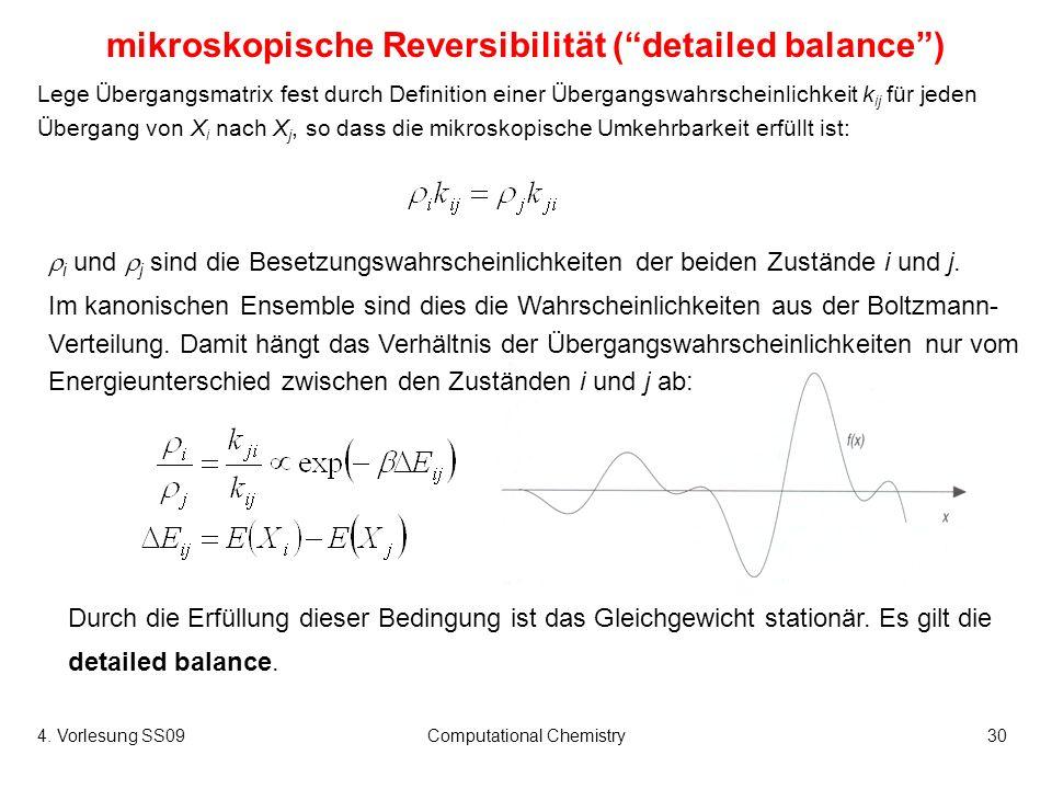 mikroskopische Reversibilität ( detailed balance )