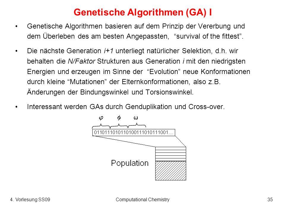 Genetische Algorithmen (GA) I