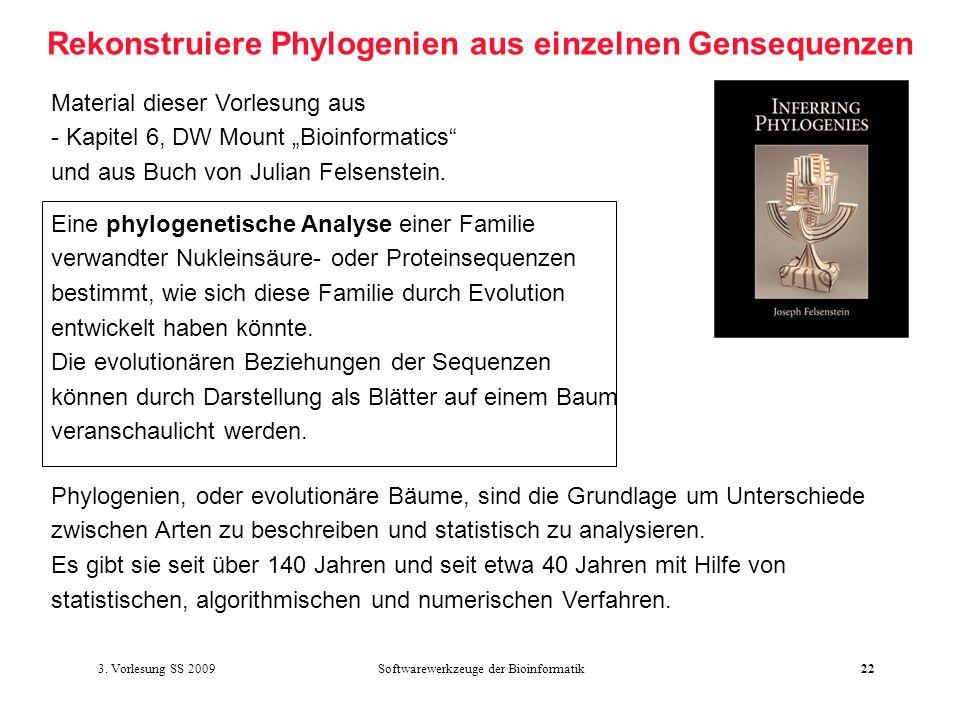 Rekonstruiere Phylogenien aus einzelnen Gensequenzen