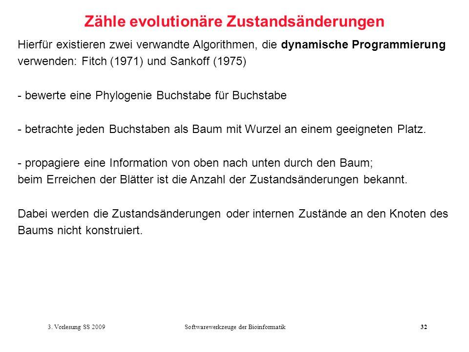 Zähle evolutionäre Zustandsänderungen