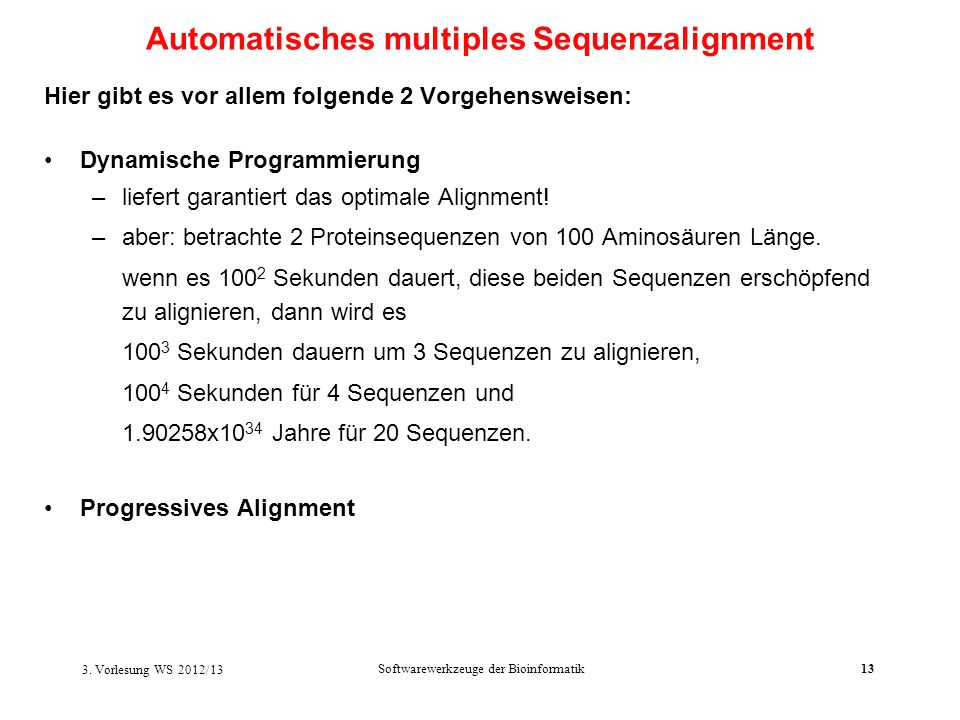 Automatisches multiples Sequenzalignment