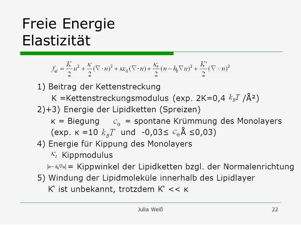 Freie Energie Elastizität