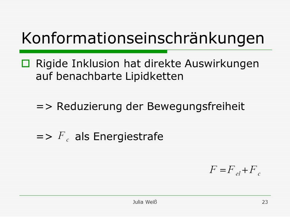 Konformationseinschränkungen