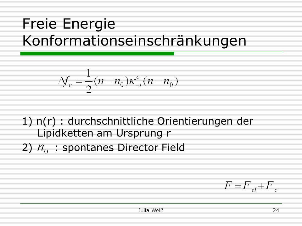 Freie Energie Konformationseinschränkungen