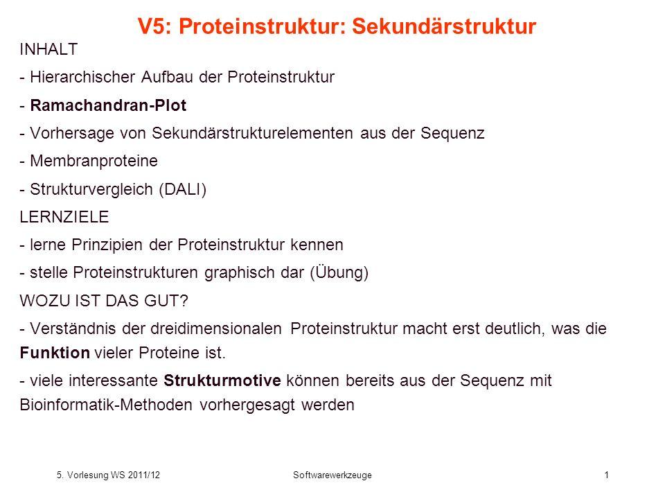 V5: Proteinstruktur: Sekundärstruktur