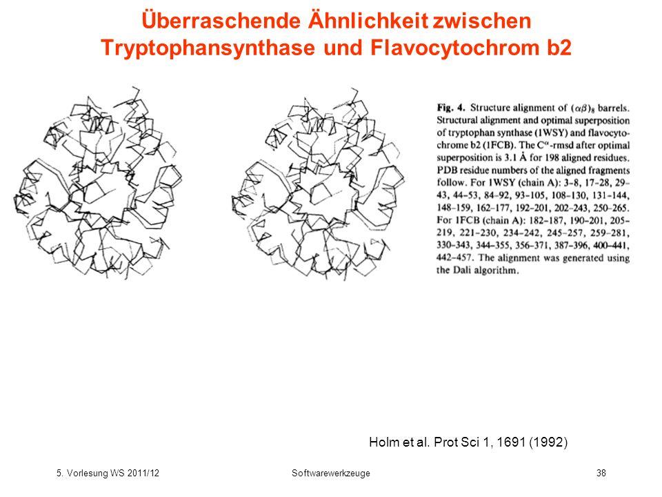 Überraschende Ähnlichkeit zwischen Tryptophansynthase und Flavocytochrom b2
