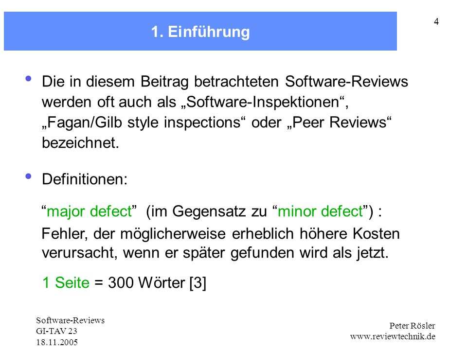 major defect (im Gegensatz zu minor defect ) :