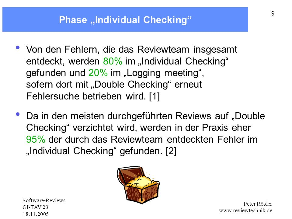 "Phase ""Individual Checking"