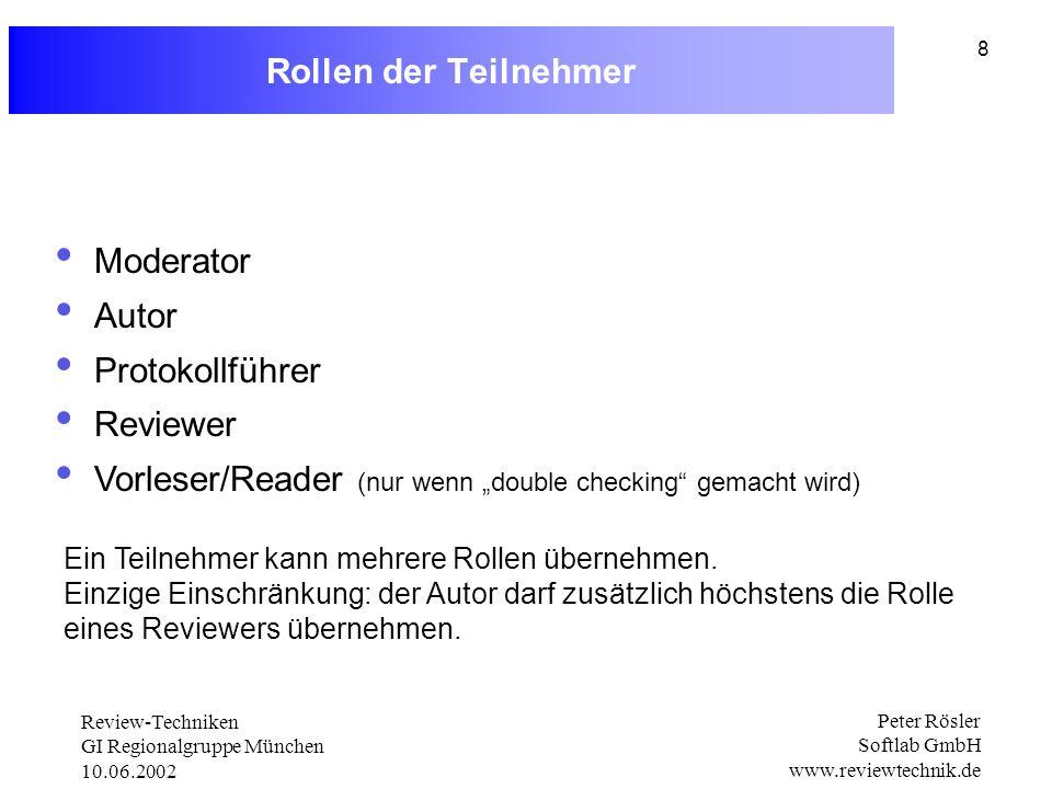 """Vorleser/Reader (nur wenn """"double checking gemacht wird)"""