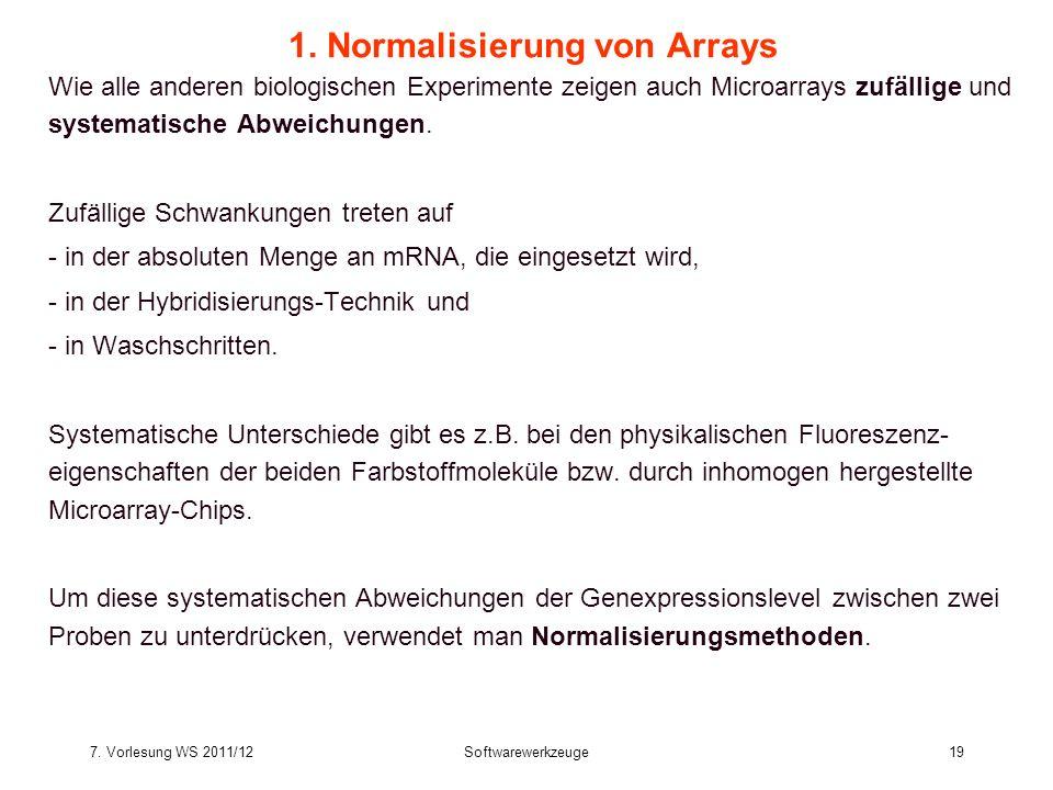 1. Normalisierung von Arrays