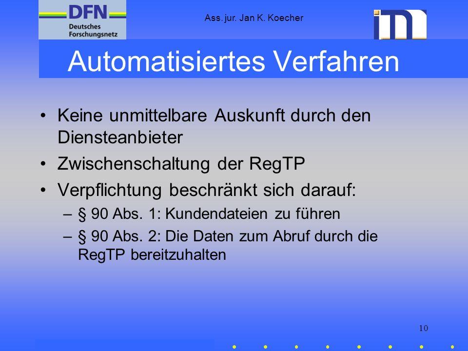 Automatisiertes Verfahren