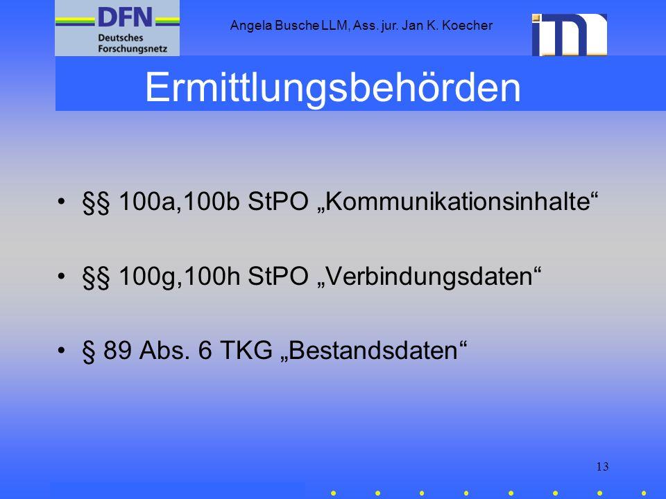 Angela Busche LLM, Ass. jur. Jan K. Koecher