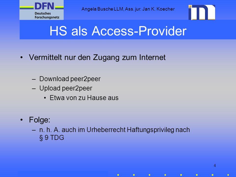 HS als Access-Provider