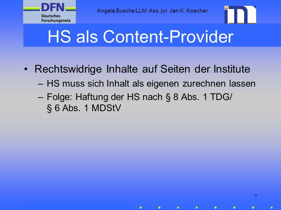 HS als Content-Provider
