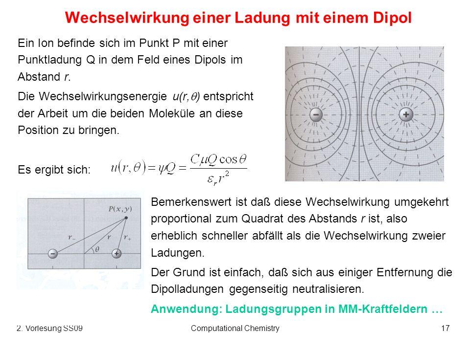Wechselwirkung einer Ladung mit einem Dipol