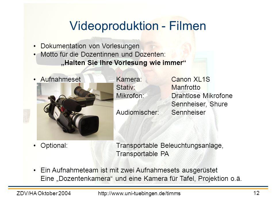 Videoproduktion - Filmen