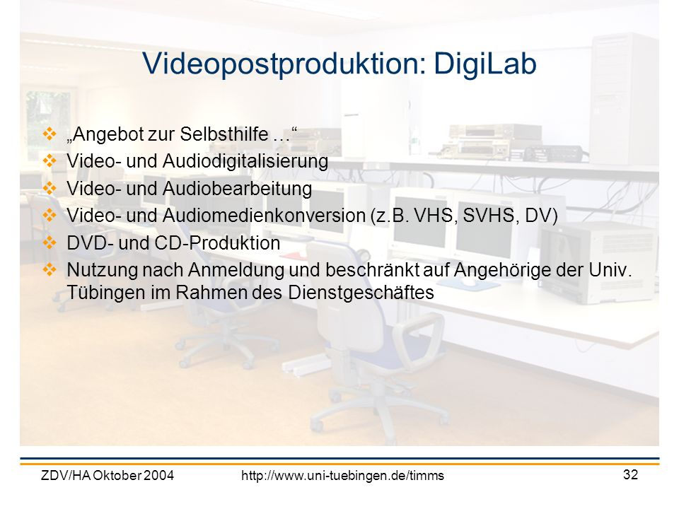 Videopostproduktion: DigiLab