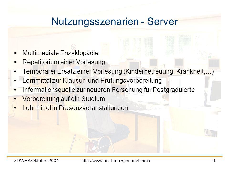 Nutzungsszenarien - Server