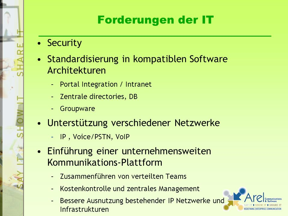Forderungen der IT Security