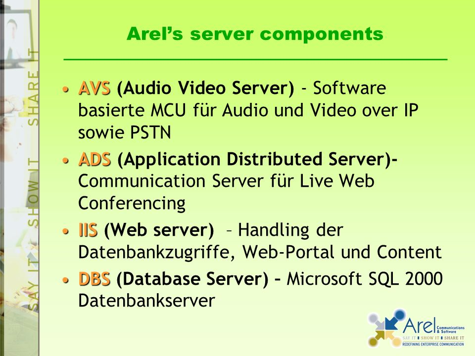 Arel's server components