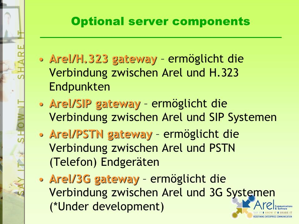 Optional server components