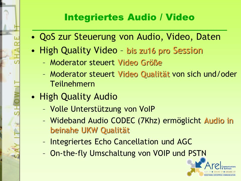 Integriertes Audio / Video