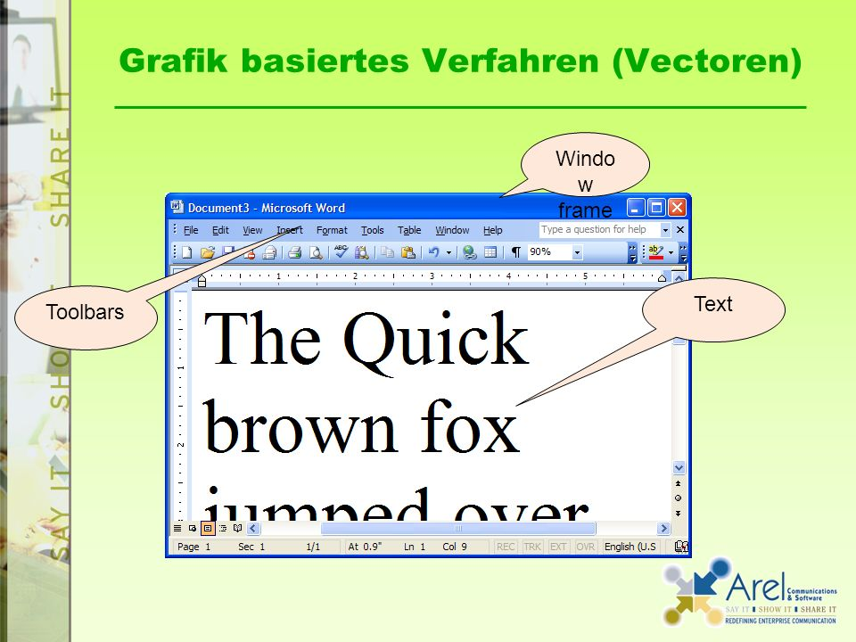 Grafik basiertes Verfahren (Vectoren)
