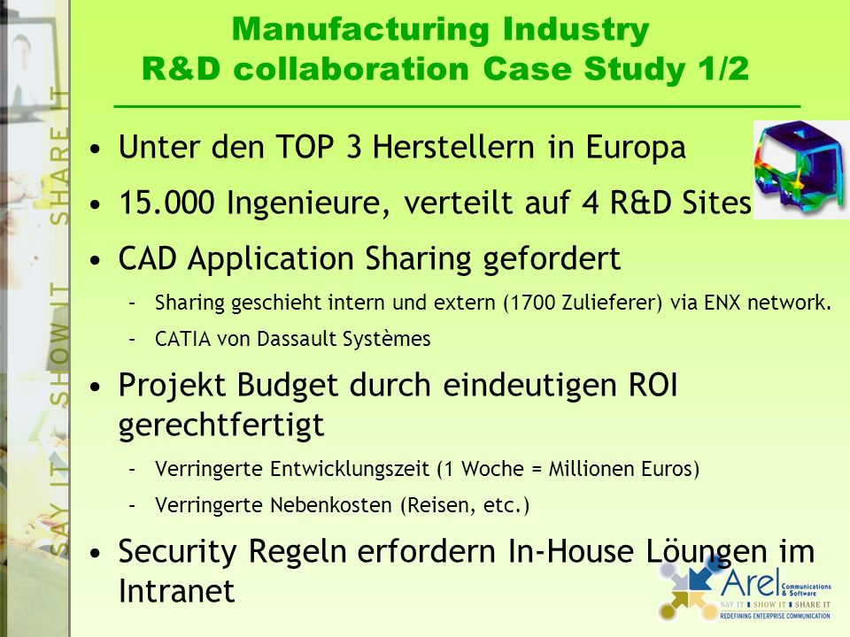 Manufacturing Industry R&D collaboration Case Study 1/2