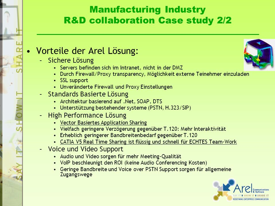 Manufacturing Industry R&D collaboration Case study 2/2