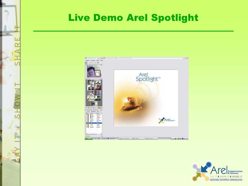 Live Demo Arel Spotlight