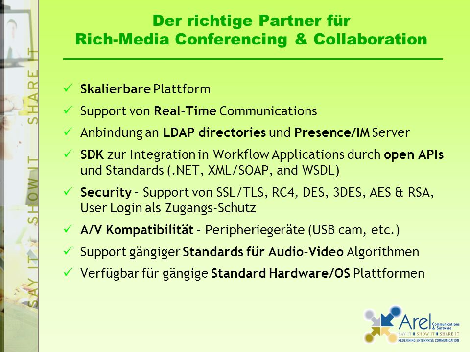 Der richtige Partner für Rich-Media Conferencing & Collaboration