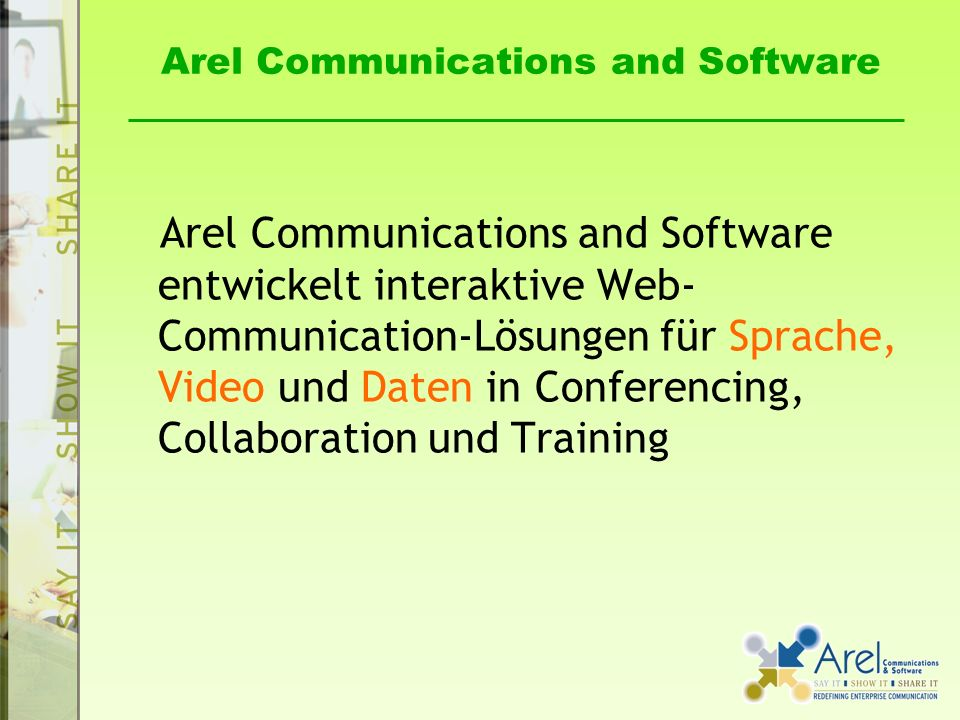 Arel Communications and Software