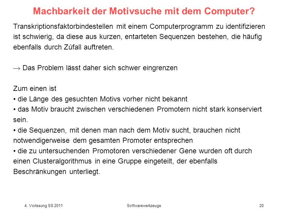 Machbarkeit der Motivsuche mit dem Computer
