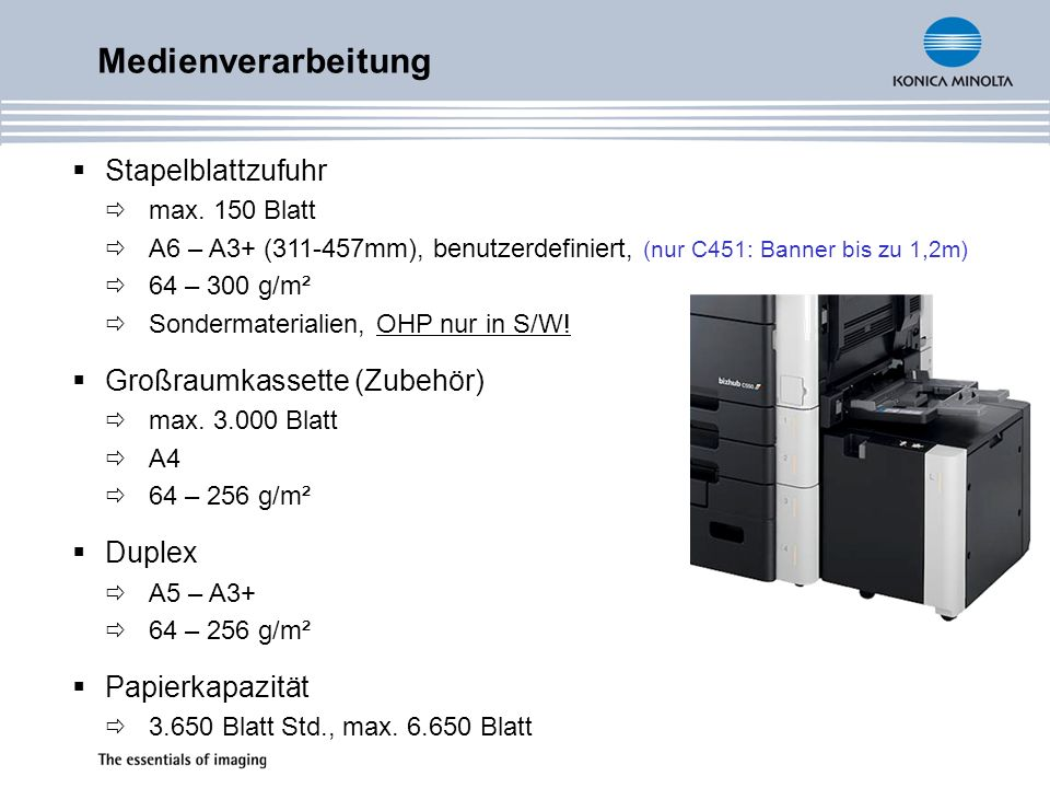 Medienverarbeitung Stapelblattzufuhr Großraumkassette (Zubehör) Duplex