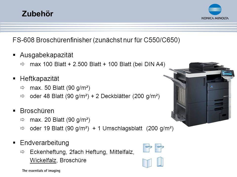 Zubehör FS-608 Broschürenfinisher (zunächst nur für C550/C650)