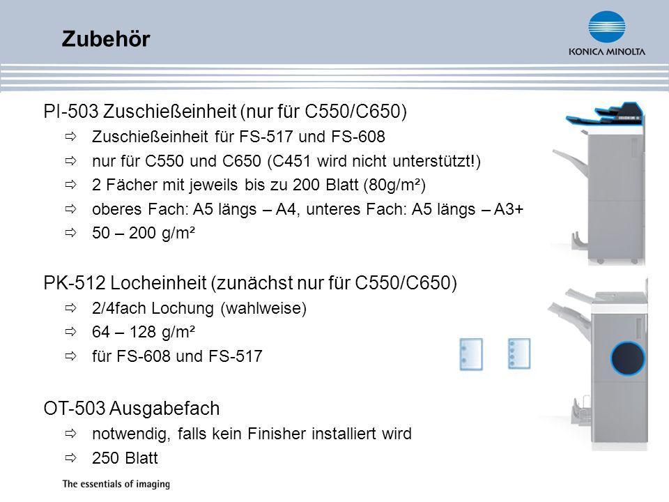 Zubehör PI-503 Zuschießeinheit (nur für C550/C650)