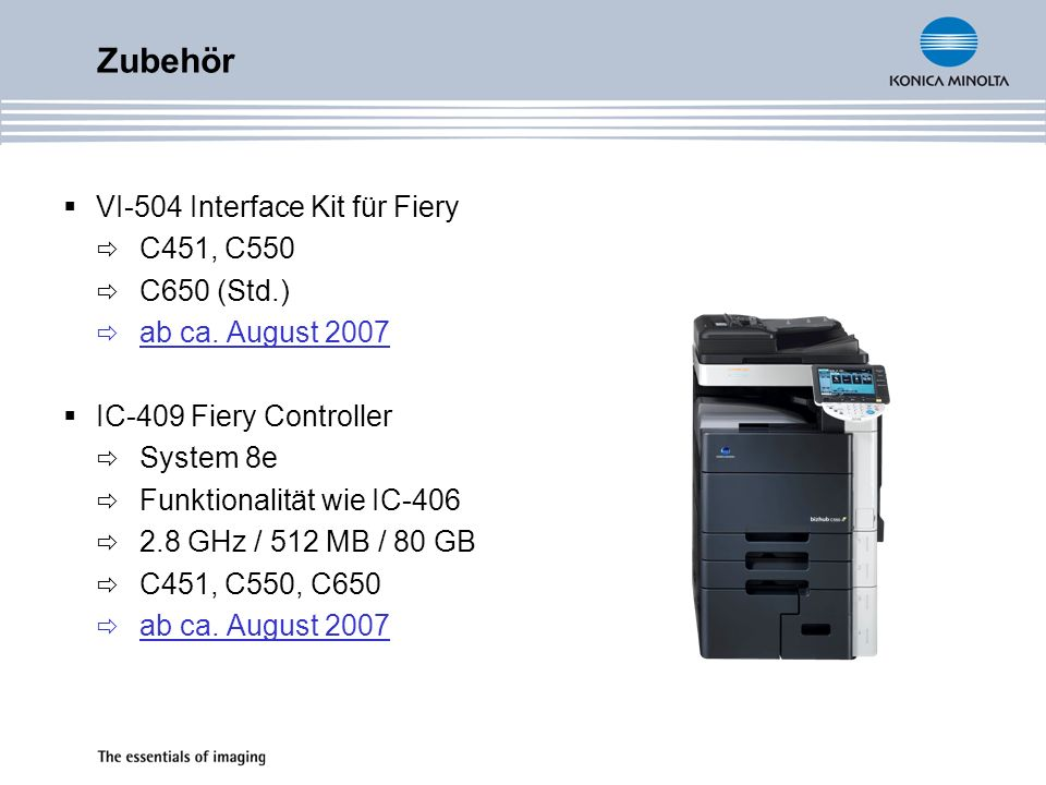 Zubehör VI-504 Interface Kit für Fiery C451, C550 C650 (Std.)
