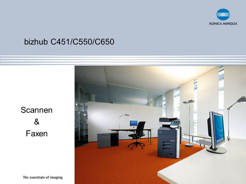 bizhub C451/C550/C650 Scannen & Faxen