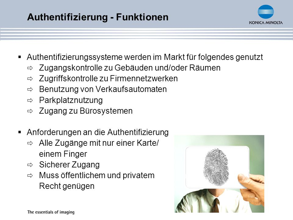 Authentifizierung - Funktionen