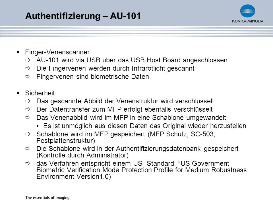 Authentifizierung – AU-101