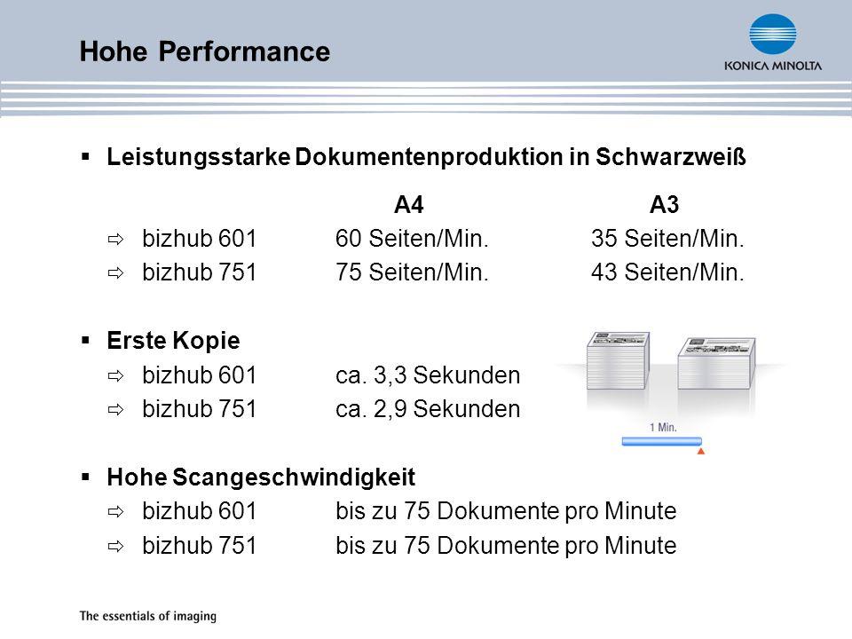 Hohe Performance Leistungsstarke Dokumentenproduktion in Schwarzweiß