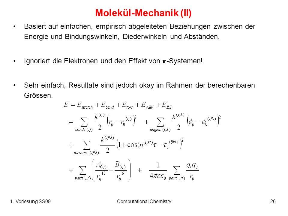 Molekül-Mechanik (II)